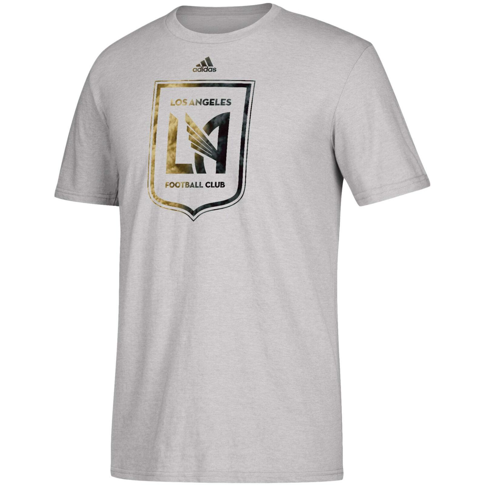 6bb05fec5c9 Adidas Los Angeles FC LAFC MLS 2018 Soccer Team Crest Reflect Foil Shirt  White