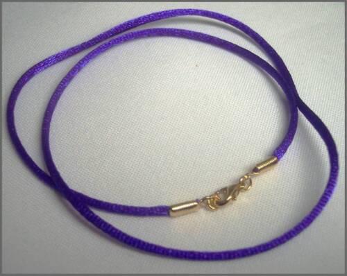 "Collier Pendentif Cordon Violet Violet Satin Handcrafted vous choisir 14/"" 32/"""