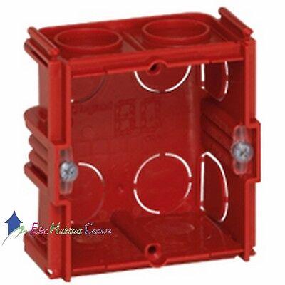 Boite encastrement multimatériaux 2 postes prof 40mm Legrand 80102
