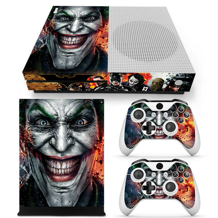 Joker xbox one S Slim Console skins decals Wrap stickers + 2 controllers game