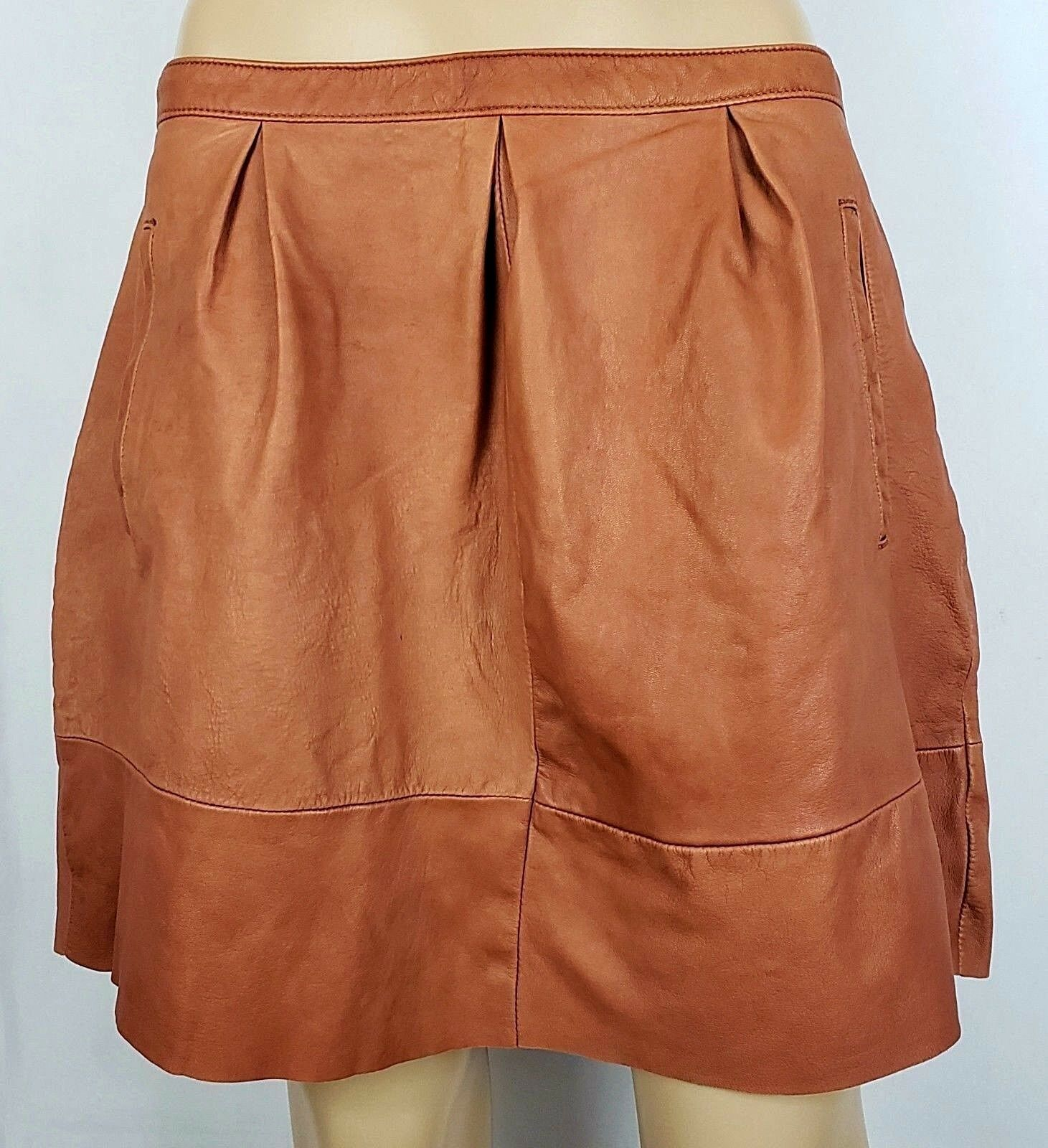 Madewell Broadway & Broome Belltoll size 12 Soft Leather Skirt