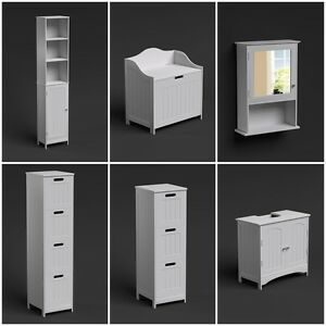 Fantastic  White Tall Storage Cabinet  Wall Hung RRP 25999 Our Trent Gloss