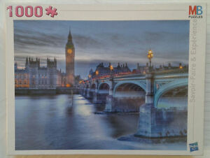 PUZZLE-MB-1000-PIECES-NEUF-LONDRES-PALAIS-DE-WESTMINSTER