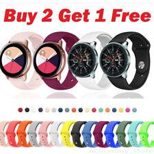 Nosotros para Samsung Galaxy Reloj activo 2 40 42 44mm Correa Reloj Banda Silicona Sport