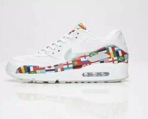 Nike Air Max 90 NIC International Flag Size 10 World Cup White Ao5119 100