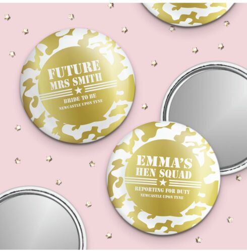 Army Squad Personalised Hen Party Pocket Mirror