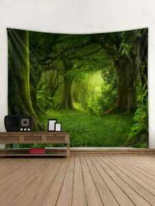 Mystic Forest Pattern Tapestry Wall Hanging Tapestry Wall Blankets Home Decor