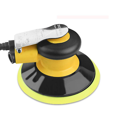 SHININGEYES 6-inch Yellow Heavy Duty /… Dual Action Pneumatic Sander Low Vibration Professional Air Random Orbital Palm Sander