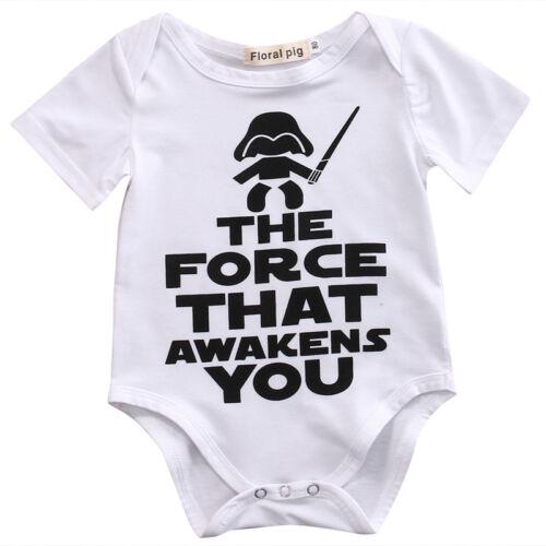 Star Wars Infant Baby Boy Summer Shirt Cotton Romper Bodysuit Clothes Sunsuit
