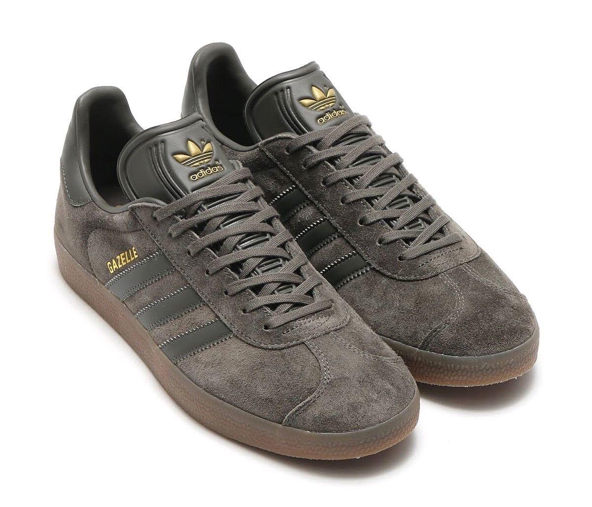 the latest dd6b3 fc0c4 Mens adidas Gazelle Utility Grey Gum Brown Bb2754 US 12 for sale online    eBay