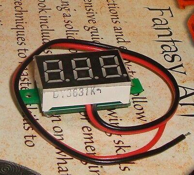 LED Voltmeter 3 to 30v, self powered, LED 7segment panelmeter