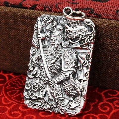 New Classic Pure 999 Silver Pendant Woman Man Lucky Fortune Cat Pendant 32*18 mm