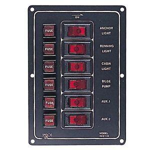 aluminum vertical 6 gang switch panel. Black Bedroom Furniture Sets. Home Design Ideas