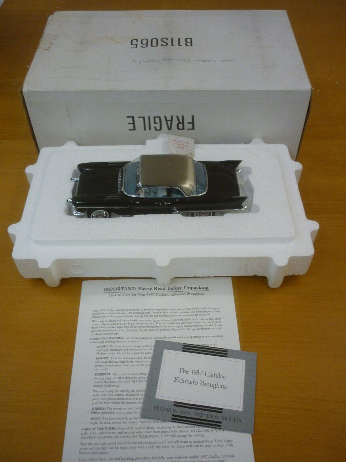 primera vez respuesta Un modelo modelo modelo de escala Franklin Mint de un 1957 Cadillac Eldorado Brougham, papeles, en Caja  ventas en linea