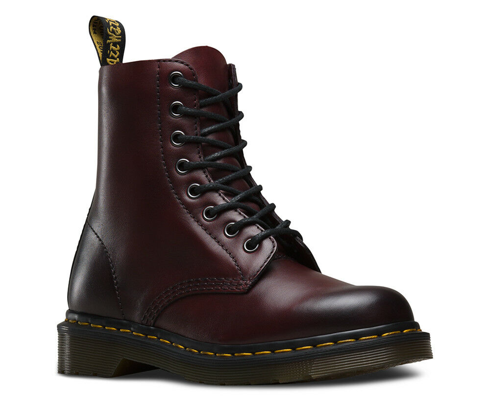 Dr.Martens Pascal 1460 Antique Cherry ROT 8-Loch Stiefel Eu 41 Uk 7 Us 9 Neu