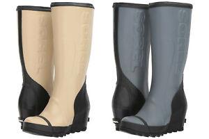 Sorel-Womens-Joan-Rain-Wedge-Felt-Tall-Pull-On-Knee-High-Waterproof-Snow-Boots