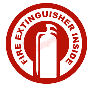 Fire-Extinguisher-Inside-Circle-Emblem-Vinyl-Decal-Window-Sticker-Car