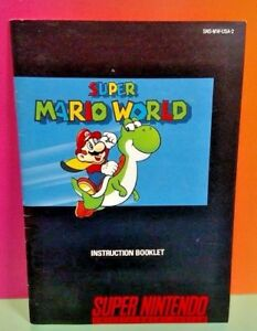 Super-Mario-World-SNES-Super-Nintendo-Instruction-MANUAL-ONLY-No-Game