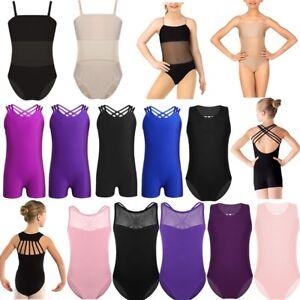 Kid-Girls-Ballet-Dance-Leotard-Mesh-Splice-Open-Back-Gymnastics-Jumpsuit-Costume