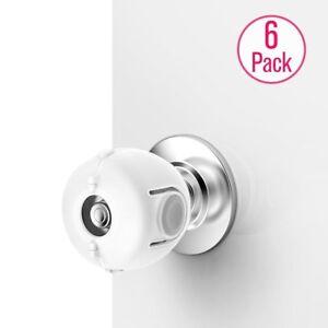 6-Pack Doorknob Handle Cover White Safety Door Lock Door Knob Safety Cover