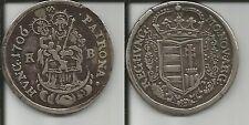 UNGHERIA RARO 1/2 TALLERO 1706 KB MALCONTENTI