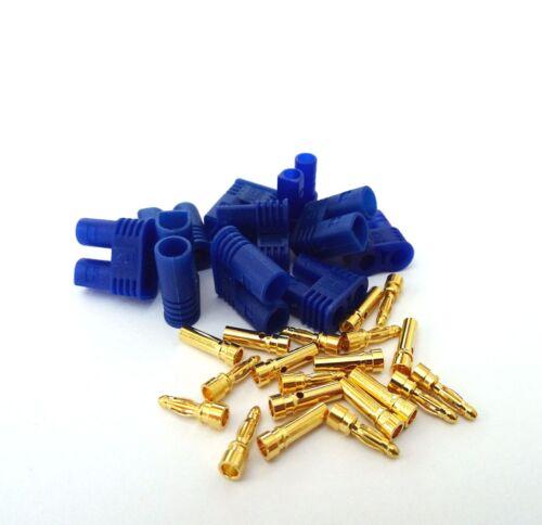 10 Paar 20 Stück EC2 Stecker Buchse Goldstecker Connector Male Female Hochstrom