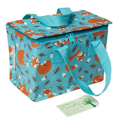 Rex London LUNCH BAG RUSTY THE FOX DESIGN. RECYCLED INSULATED COOL WARM BAG