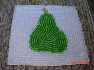 12 Coasters Green Pear Beaded New Ebay