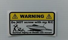 RC BOAT Warning Decals for your nitro electric dumas prather traxxas kb sticker