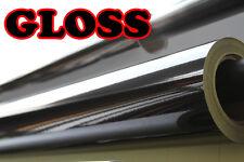 Negro Brillante Vinilo Wrap película Hoja pegatina 300 mm (11,8 pulgadas) x 1250mm (49,2 en)