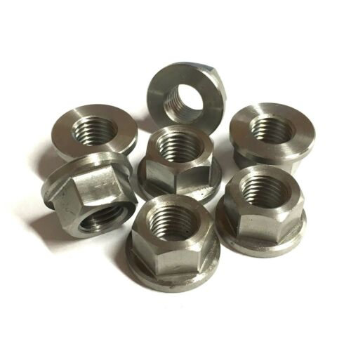 Metric FINE PITCH Flange Nuts - Stainless M10 x 1.25 - Sprocket Nut British Made