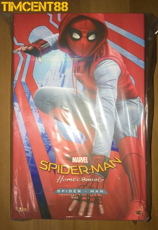 Hot Toys MMS414 Spider-Man Homecoming Homemade Suit Ver Tom Holland Peter Parker