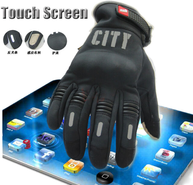 Touch Screen Bicycle Cycling Full Finger Gloves Shock Absorbtion for iphone 6 5S