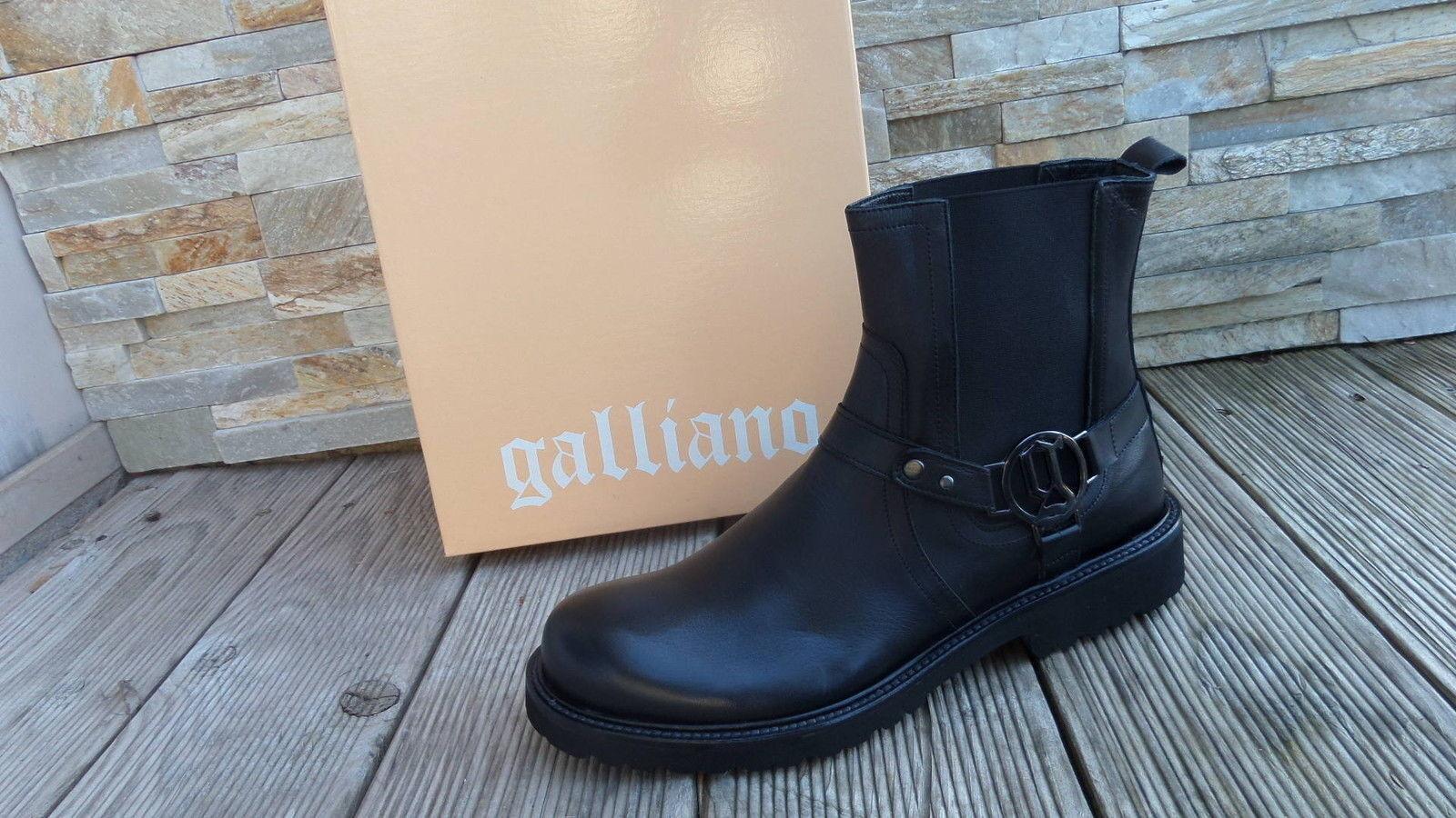 Galliano Botines botas Botines Zapatos Negros Nuevo Antiguo