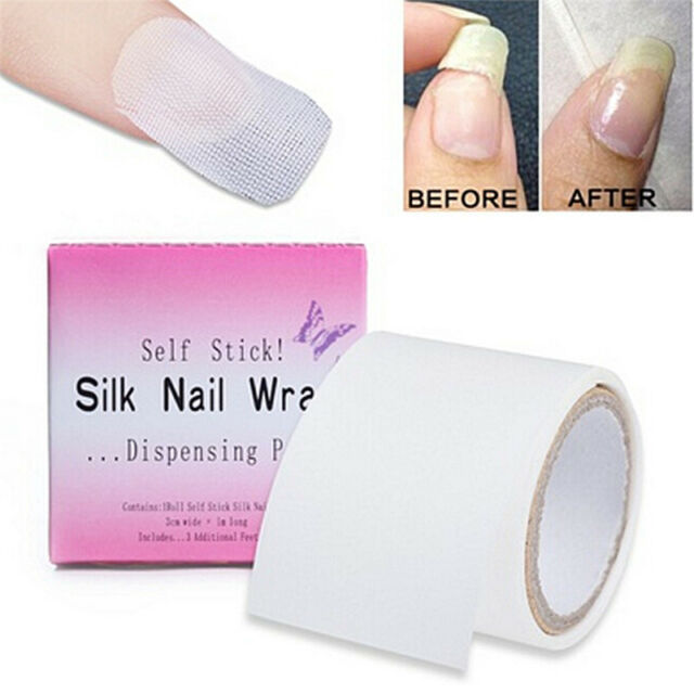 Essential Manicure Tools Fiberglass Silk Nail Wrap Stickers