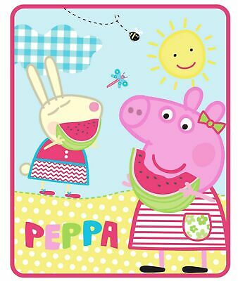 Peppa Pig Silky Soft Throw Blanket 40 x 50 inches Sunshine Treat Plush Kids  NEW