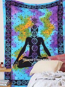 Individual-Decoracion-de-pared-indio-Meditacion-Buda-Tapiz-Chakra-Boho-Manta