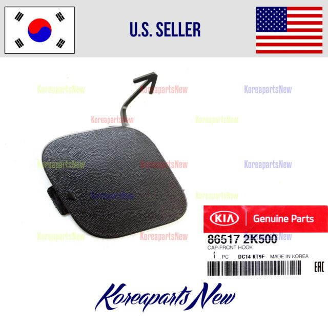 NEW OEM KIA SOUL 2017-2018 REAR BUMPER TOW HOOK COVER-TEXTURED BUMPER ONLY