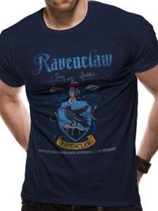 Serdaigle-Quidditch-Equipe-Crest-Officiel-Harry-Potter-Bleu-T-shirt-Homme