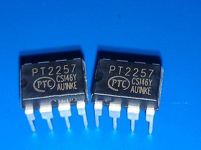 1pcs I2C 2 channels digital volume controller IC PT2257 NEW