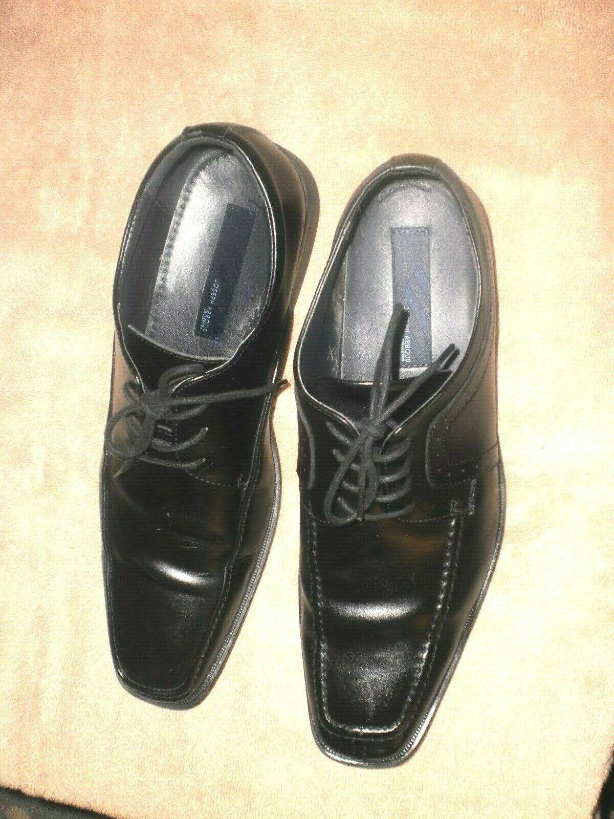 Mens/teen Joseph Abboud Black Dress Shoes Sz 12 M Leather Upper sole lining