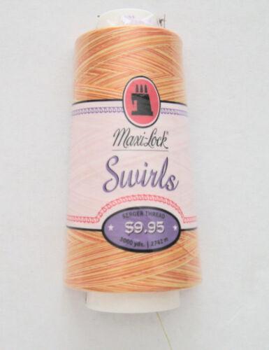 3000yd choose your color Maxilock Swirls serger thread