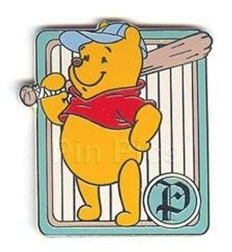POOH+BAT BASEBALL CARD Series CAST LANYARD 2003 WDW Sports DISNEY PIN