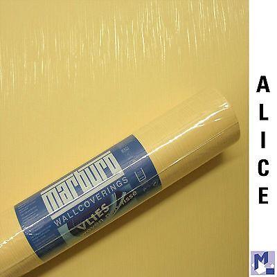 SALE! MARBURG ALICE Vlies Tapete Uni gelb gestreift 78201 Top Qualität