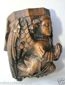 Angel-Corbel-Medieval-Reproduction-Cathedral-Carving-Unique-Church-Ornament-gift