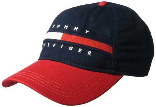 Tommy Hilfiger Homme ardin papa casquette de baseball 100/% coton rouge Taille Unique