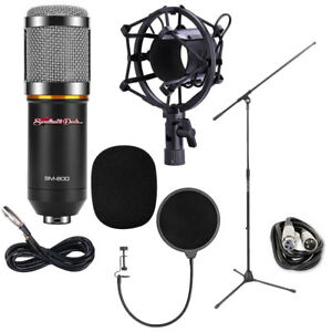SHD BM800 Pro Condenser Microphone Bundle for Studio Broadcasting and Recording