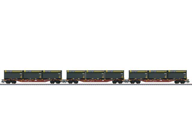 marklin 47090 h0 AC 3contenitore autorello portante sngss M. woodtainer contenitori XXL