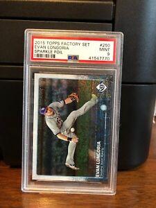 2015-Topps-Sparkle-Foil-Evan-Longoria-Baseball-Card-250-PSA-9-POP-1
