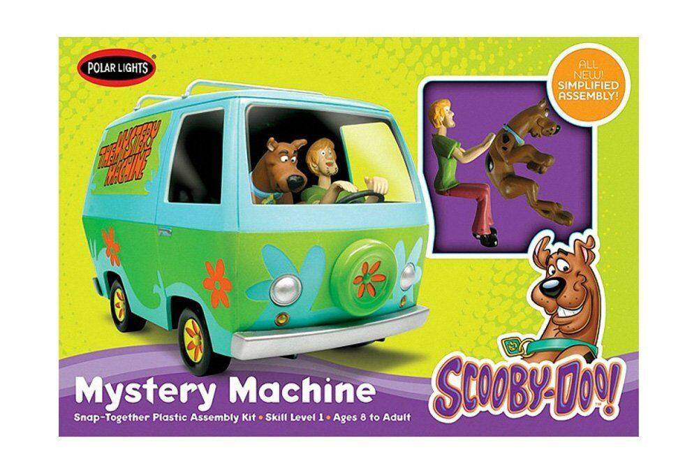 Model Van Scooby Doo. Includes characters. Kit mounting. Scale 1 25